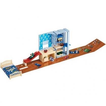 小禮堂 迪士尼 玩具總動員 胡迪 手提房間玩具組 兒童玩具 扮家家酒 (棕 大臉)