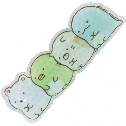 小禮堂 角落生物 透明果凍顆粒 保冷劑 保冰劑 冰墊 冰枕 冰敷袋 (綠 排坐)