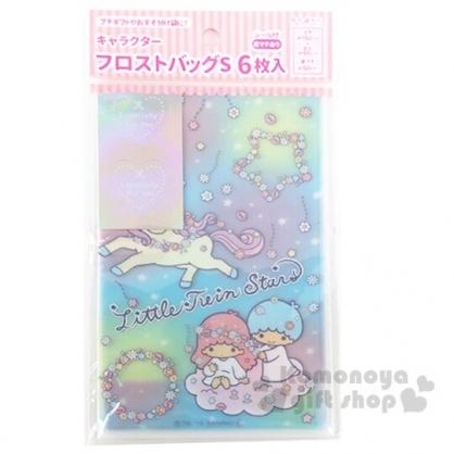 小禮堂 雙子星 迷你透明禮物袋組 包裝袋 糖果袋 餅乾袋 銅板小物 (6入 藍)