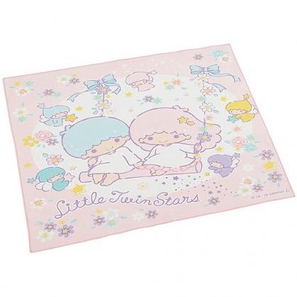 小禮堂 雙子星 日製 棉質 便當包巾 餐巾 桌墊 手帕 桌巾 43x43cm (粉白 盪鞦韆)