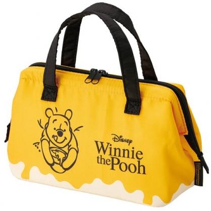 小禮堂 迪士尼 小熊維尼 尼龍保冷便當袋 手提袋 保冷袋 野餐袋 硬式支架 (黃 蜂蜜罐)