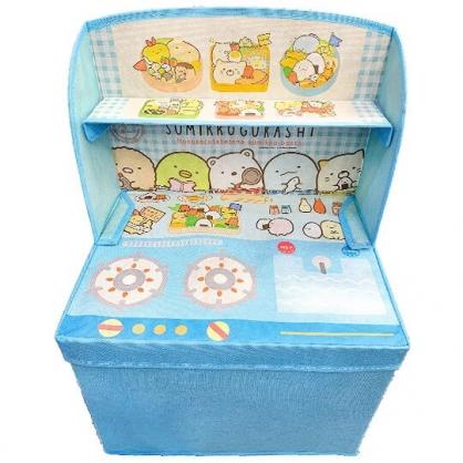 小禮堂 角落生物 尼龍折疊掀蓋收納箱 收納籃 置物箱 玩具箱 衣物箱 (藍 廚房)