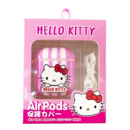 小禮堂 Hello Kitty Apple Airpods 保護殼 藍牙耳機盒 保護套 裝飾殼 (粉 大臉)