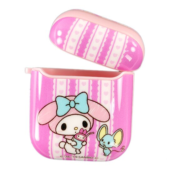 小禮堂 美樂 Apple Airpods 保護殼 藍牙耳機盒 保護套 裝飾殼 (粉 飲料)