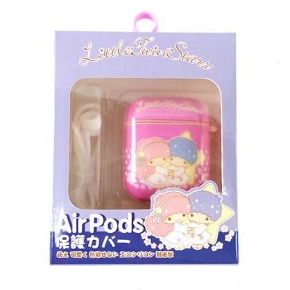 小禮堂 雙子星 Apple Airpods 保護殼 藍牙耳機盒 保護套 裝飾殼 (粉 牽手)