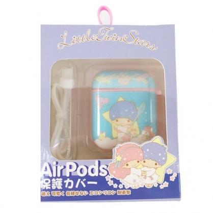 小禮堂 雙子星 Apple Airpods 保護殼 藍牙耳機盒 保護套 裝飾殼 (藍 手杖)