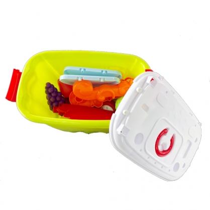 小禮堂 角落生物 蔬菜攤手推車玩具組 兒童玩具 親子玩具 扮家家酒 玩具箱 (綠白)