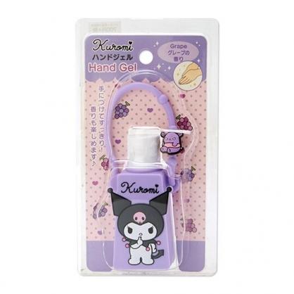 小禮堂 酷洛米 乾洗手 潔手凝露 手部清潔 矽膠瓶裝 葡萄香 28g (紫)
