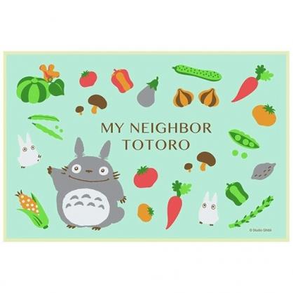 小禮堂 宮崎駿Totoro 龍貓 單人 野餐墊 海灘墊 防水墊 60x90cm (綠灰.蔬菜)