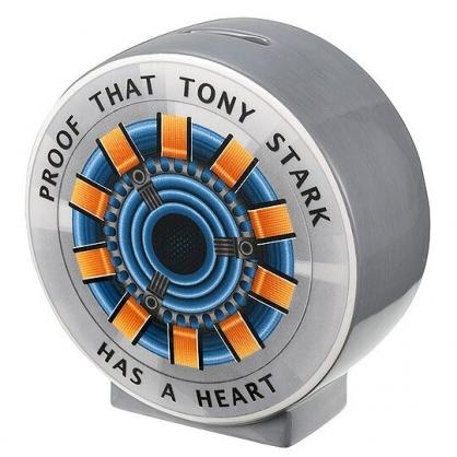 小禮堂 漫威英雄 Marvel 鋼鐵人 陶瓷存錢筒 鋼鐵人心臟 撲滿 儲金筒 (灰藍)