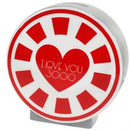 小禮堂 漫威英雄 Marvel 鋼鐵人 陶瓷存錢筒 Love you 3000 撲滿 儲金筒 (紅白)