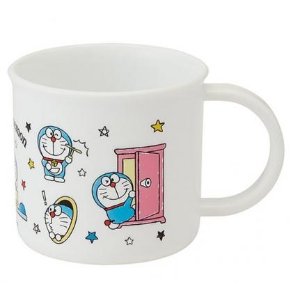 小禮堂 哆啦A夢 日製 塑膠杯 單耳 兒童水杯 漱口杯 200ml (白 道具)