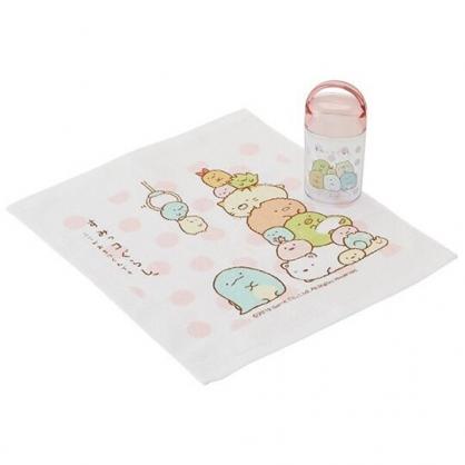 小禮堂 角落生物 方形毛巾 純棉 無捻紗 毛巾罐 方巾 手帕 28x32cm (粉白 點點)