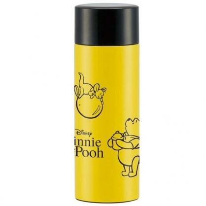 小禮堂 迪士尼 小熊維尼 保溫瓶 旋轉蓋 超輕量不鏽鋼 水壺 水瓶  隨手瓶 350ml (黃 蜂蜜罐)