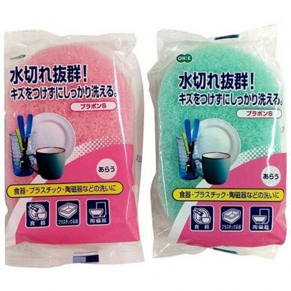 小禮堂 日本金鳥 日製 清潔海綿 橢圓形 清潔刷 洗碗刷 菜瓜布 (2款隨機)