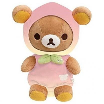 小禮堂 懶懶熊 沙包玩偶 絨毛 娃娃 布偶 玩具 (S 棕 桃子裝)
