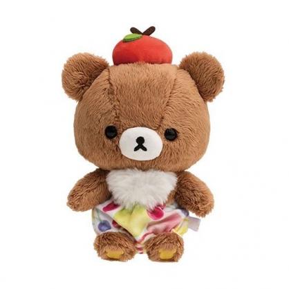 小禮堂 懶懶熊 沙包玩偶 絨毛 娃娃 布偶 玩具 (S 棕 水果褲)