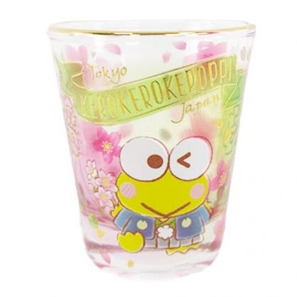 小禮堂 大眼蛙 迷你 透明玻璃杯 無把 清酒杯 茶杯 (綠金 櫻花)