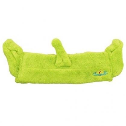 小禮堂 迪士尼 三眼怪 毛巾布 鬆緊束髮帶 洗臉髮帶 髮箍 頭飾 (綠 造型耳)