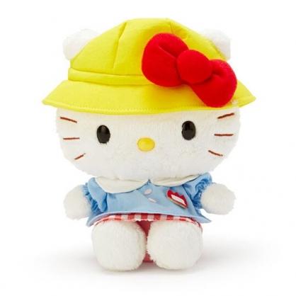 〔小禮堂〕Hello Kitty 絨毛玩偶 娃娃 玩具 布偶 (S 黃藍 復古學園系列)