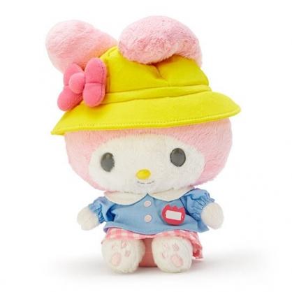 〔小禮堂〕美樂蒂 絨毛玩偶 娃娃 玩具 布偶 (S 黃藍 復古學園系列)
