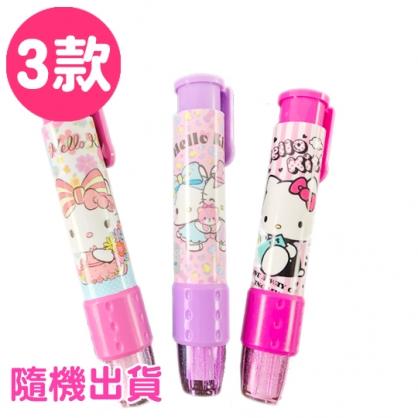 小禮堂 Hello Kitty 橡皮擦 筆型 按壓式 擦布 學童文具 (3款隨機)