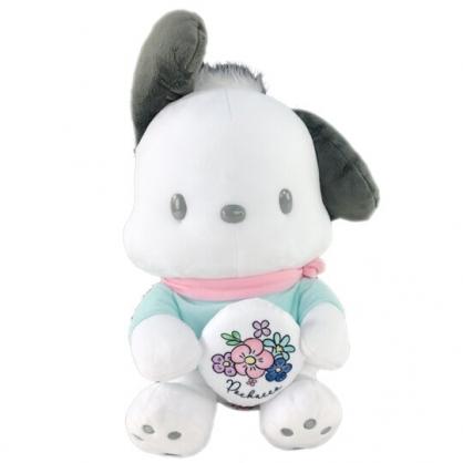 小禮堂 帕恰狗 絨毛 玩偶 娃娃 玩具 布偶 (L 白 綠衣)