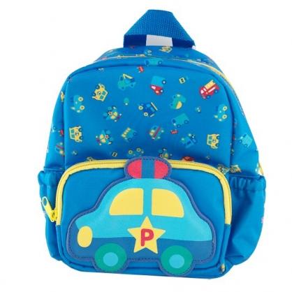 小禮堂 RB工程車 後背包 尼龍 兒童背包 雙層拉鍊 雙肩包 書包 (藍 車種)