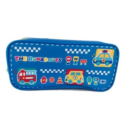 小禮堂 RB工程車 拉鍊筆袋 尼龍 收納包 化妝包 鉛筆盒 (藍 車種)