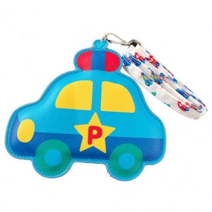 小禮堂 RB工程車 票卡夾 造型皮質 附腕繩 證件夾 車票夾 卡套 (藍)