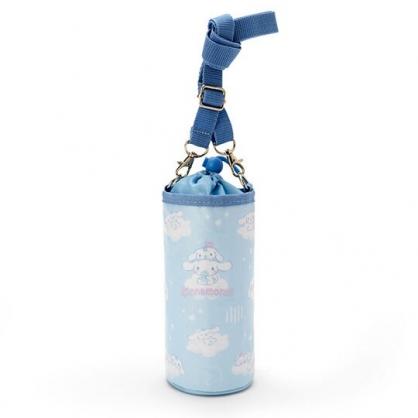 小禮堂 大耳狗 水壺袋 水壺背袋 保冷 防水 環保杯袋 水瓶袋 500ml (藍 滿版)