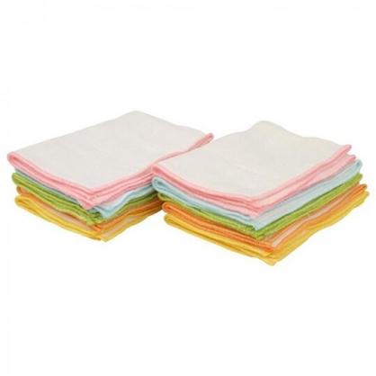 小禮堂 吸水抹布組 純棉 抹布 紗布 毛巾 25x35cm (10入 彩)
