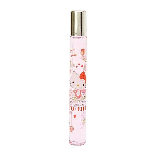 小禮堂 Hello Kitty 滾珠香水 隨身香水 筆型香水 小香 香氛 櫻花香 10ml (粉綠)