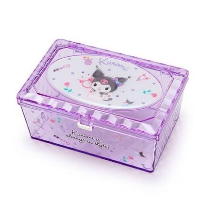 小禮堂 酷洛米 收納盒 透明 方形掀蓋 置物盒 飾品盒 小物收納 (紫)