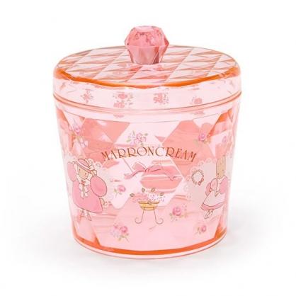 小禮堂 兔媽媽 收納罐 透明 圓形拿蓋 置物罐 棉花罐 小物收納 (粉橘)
