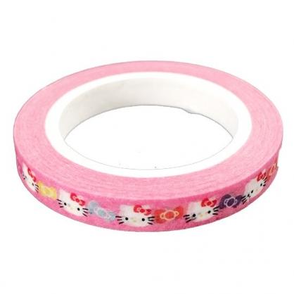 小禮堂 Hello Kitty 紙膠帶 極細型 裝飾膠帶 膠布 禮物包裝 5mmx7m (粉 蝴蝶結)