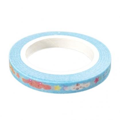 小禮堂 大耳狗 紙膠帶 極細型 裝飾膠帶 膠布 禮物包裝 5mmx7m (藍 朋友)