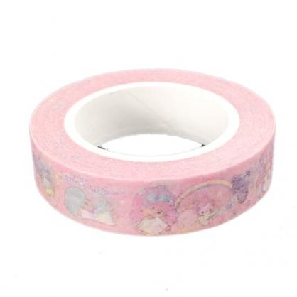 小禮堂 雙子星 紙膠帶 裝飾膠帶 膠布 禮物包裝 10mmx10m (粉 彩虹)