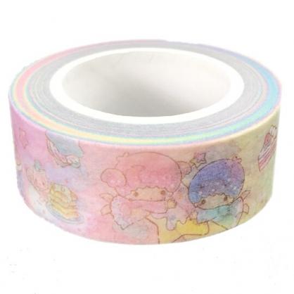 小禮堂 雙子星 紙膠帶 裝飾膠帶 膠布 禮物包裝 15mmx10m (粉 月亮)