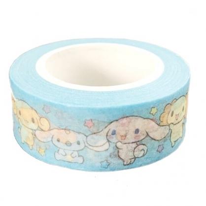 小禮堂 大耳狗 紙膠帶 裝飾膠帶 膠布 禮物包裝 15mmx10m (藍 朋友)