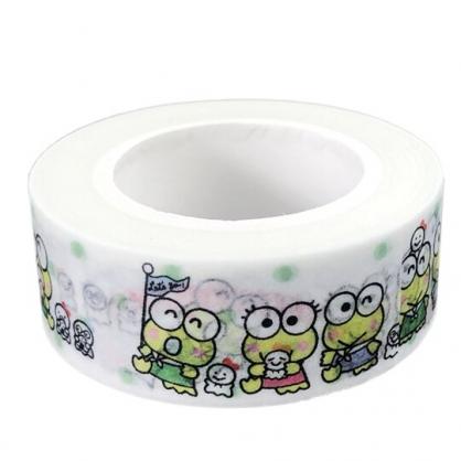 小禮堂 大眼蛙 紙膠帶 裝飾膠帶 膠布 禮物包裝 15mmx10m (綠 朋友)