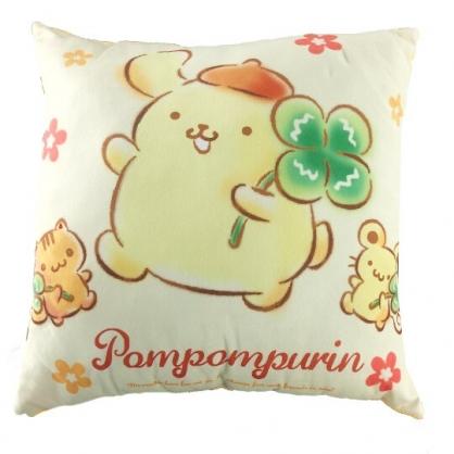 小禮堂 布丁狗 抱枕 靠墊 午睡枕 枕頭 方形絨毛 (黃 幸運草)