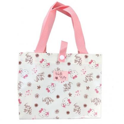 小禮堂 Hello Kitty 便當袋 手提袋 野餐袋 方形不織布 (米棕 摸嘴)