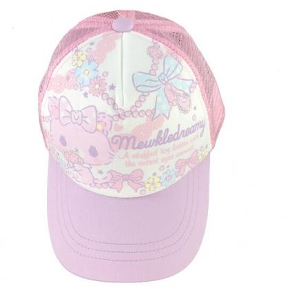 小禮堂 甜夢貓 棒球帽 兒童帽 鴨舌帽 遮陽帽 網帽 休閒帽 (粉紫 2020夏日服飾)