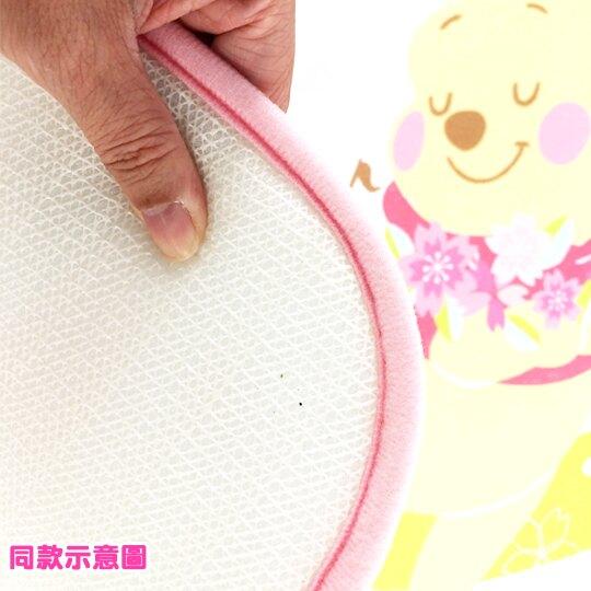 小禮堂 迪士尼 米奇米妮 腳踏墊 方形 吸水踏墊 浴室地墊 止滑海綿 45x65cm (粉棕 櫻花)