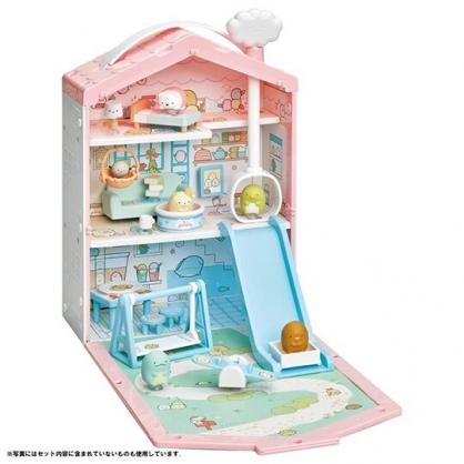 小禮堂 角落生物 模型娃娃屋 模型擺飾 公仔收納 兒童玩具 (粉藍 居家)