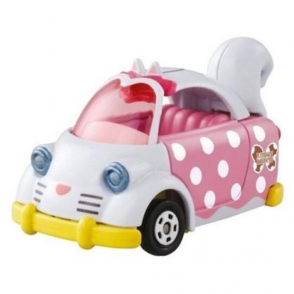 小禮堂 TOMICA 多美小汽車 迪士尼 瑪莉貓 造型車 玩具車 公仔 模型 兒童玩具 (粉白 貓尾)