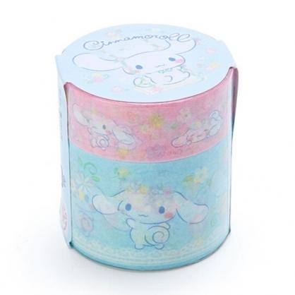 小禮堂 大耳狗 紙膠帶 裝飾膠帶 膠布 禮物包裝 (2入 綠粉 生日花朵)