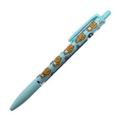 小禮堂 KAKAO Friends 萊恩 日製 原子筆 自動筆 黑筆 0.5mm (綠 滿版)