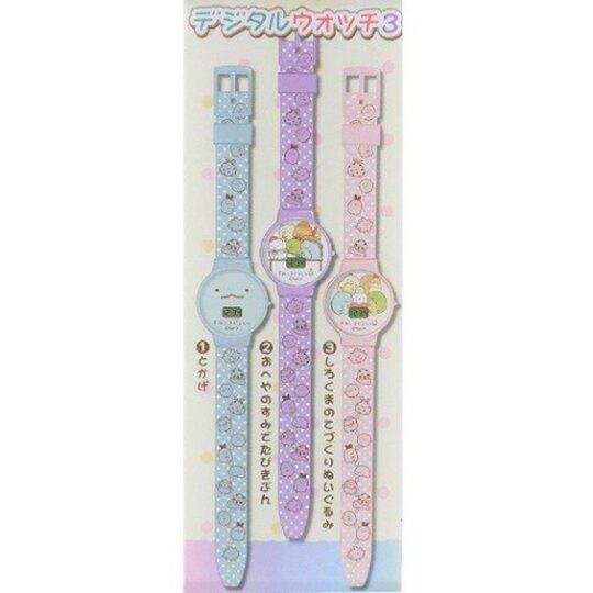 小禮堂 角落生物 電子錶 兒童錶 手錶 休閒錶 腕錶 (3款隨機 綠紫盒)